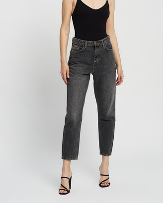 Topshop Washed Mom Jeans