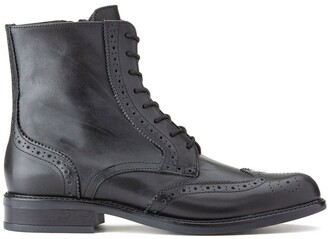 Jonak Lace-Up Leather Ankle Boots