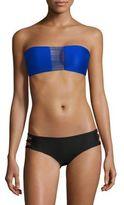 Mikoh Swimwear Sunset String Bandeau Bikini Top