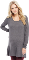 Motherhood Long Sleeve Rib Knit Hem Maternity Tunic