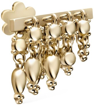 Maria Tash Yellow Gold Tassel Bar Threaded Stud Earring (6mm)