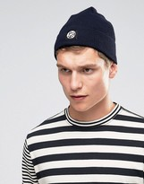 Ps By Paul Smith Merino Wool Beanie In Navy