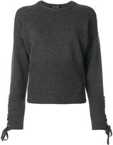 Neil Barrett laced sleeve jumper