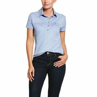 Ariat Womens Talent Short Sleeved Polo Shirt - Blue Heather: Medium