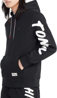 Tommy Hilfiger Graphic Cotton Blend Drawstring Hoodie