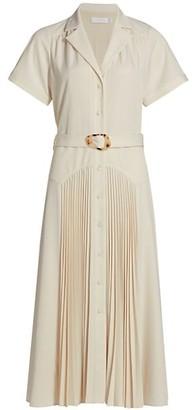Jonathan Simkhai Sama Notched Collar Midi Dress