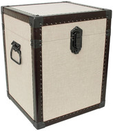 Trunks Seward Trunk Madison Collection Trunk Cube End Table, Linen