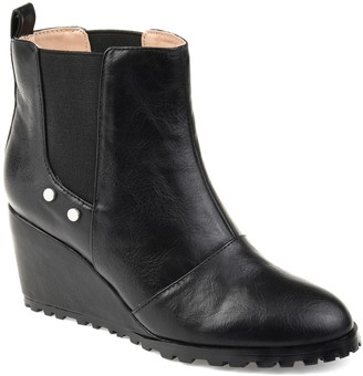 Journee Collection Jessie Wedge Heel Bootie
