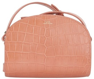 A.P.C. Mini Demi-Lune crocodile effect leather bag