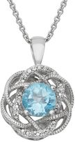 Simply Vera Vera Wang Sterling Silver Blue Topaz & Diamond Accent Braided Pendant