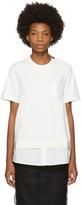 Moncler White Twist Pocket T-shirt