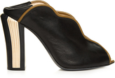 Fendi Wave foldable-heel leather mules