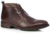 Base London Brown Leather Chukka Boots