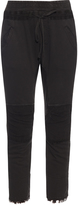 Haider Ackermann Perth contrast-panel cotton-blend track pants