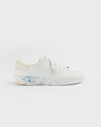 Ted Baker Vanilla Printed Cupsole Trainer