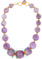 Bounkit Amethyst & Turquoise Bead Necklace