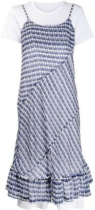 Comme des Garcons Triangle Pattern Panel Dress