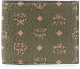 MCM Men's Visetos Monogram Flap Wallet