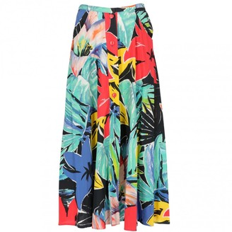 Oleg Cassini Multicolour Cotton Skirt for Women