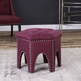 The Well Appointed House Hexagonal Shaped Stool in Eggplant Purple