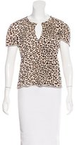 See by Chloe Leopard Print Short Sleeve Top