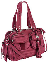 As Is Aimee Kestenberg Christina Crystal Leather Swagger Satchel