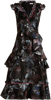 Erdem Rochelle Bacall Night-jacquard dress