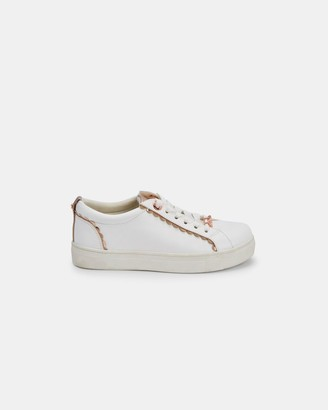 Ted Baker Scallop Detail Lace Up Trainers