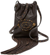 Ralph Lauren Studded Leather Cross-Body Bag