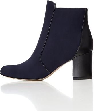Find. Women's Boots Zip Block Heel Blue (Navy/Black) 3 UK (36 EU)