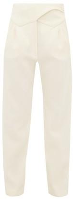 BLAZÉ MILANO Resolute High-rise Wool Trousers - Cream