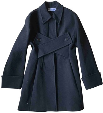 Christian Dior Black Wool Coat for Women