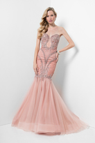 Terani Couture Superb Beaded and Laced Sweetheart Mermaid Dress 1711GL3553