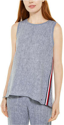 Tommy Hilfiger High-Low Woven Top