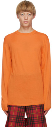 Comme des Garcons Orange Worsted Yarn Sweater