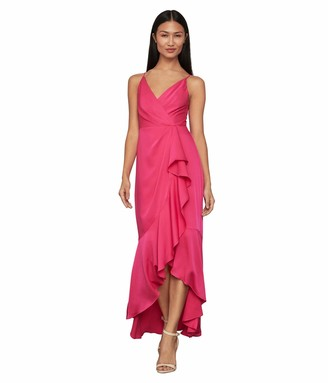 BCBGMAXAZRIA Women's Sleeveless V-Neck High-Low Dress