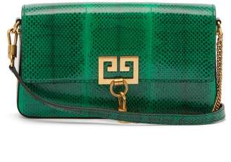 Givenchy Charm Ayers Snakeskin Shoulder Bag - Womens - Green