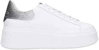 Ash Mobyglitt03 Sneakers In White Leather