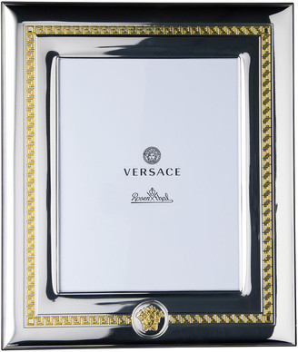 """Versace Silver & Gold Photo Frame, 8"""" x 10"""""""
