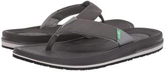Sanuk Beer Cozy 3 (Charcoal) Men's Sandals