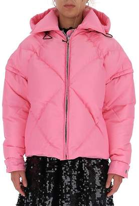 MSGM Quilted Hooded Jacket