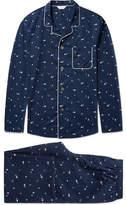 Derek Rose Nelson 62 Printed Cotton Pyjama Set