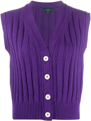 Jejia Sleeveless Rib-Knit Cardigan