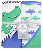 Carter's Alligator 2pk Hooded Towel - Blue