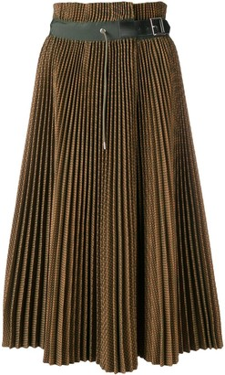 Sacai Plisse Check Skirt