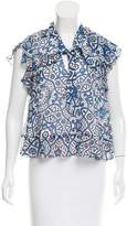 Rebecca Minkoff Ronnie Abstract Print Top w/ Tags