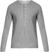 ADAM by Adam Lippes Long-sleeved cotton henley top