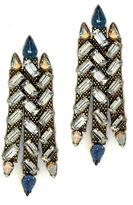 Nicole Romano Jinhai Baguette Earrings