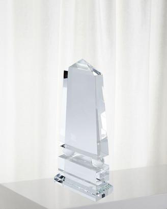 Global Views Wide Crystal Obelisk