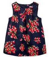 Joe Fresh Gingham Printed Dress (Baby Girls)